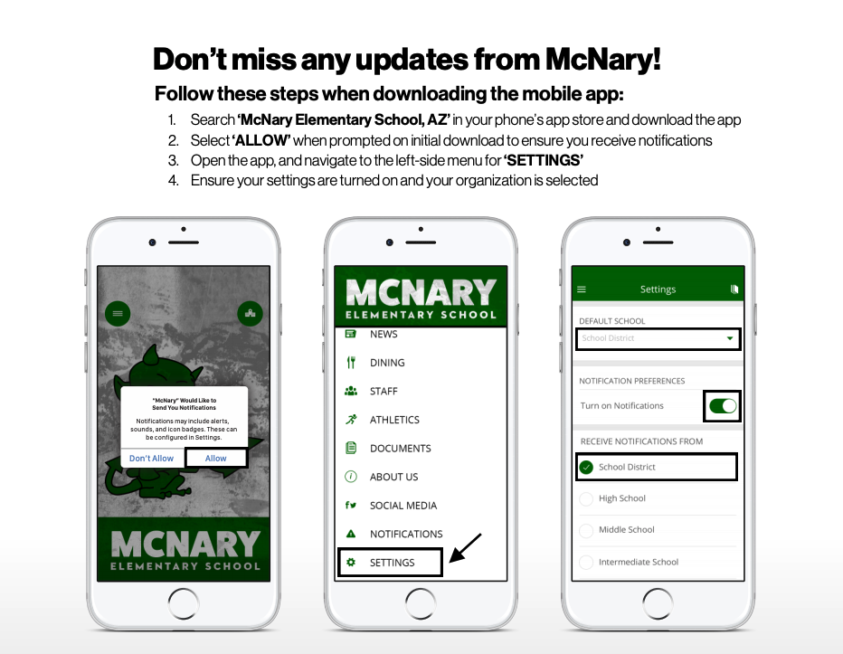 McNary Push Notifications